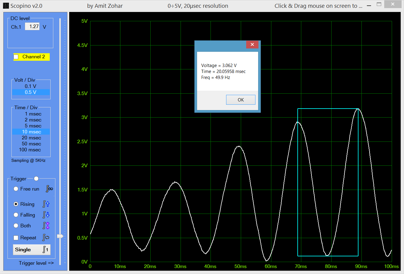 Arduino Oscilloscope: 688000 samples/sec Hackadayio