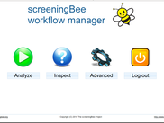 screeningBee main interface
