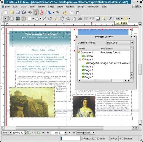 Scribus for Mac OS X screenshot