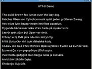 Full support of UTF-8 text