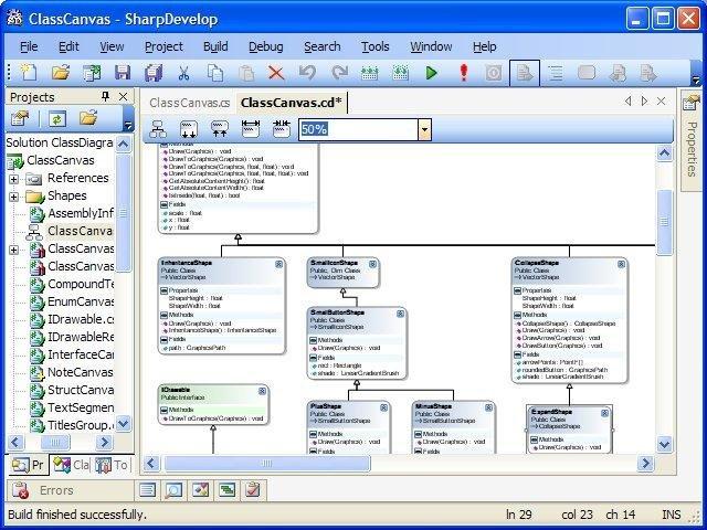 SharpDevelop    Class    Diagram      SourceFe