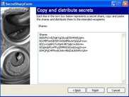 Copying and distributing a secret