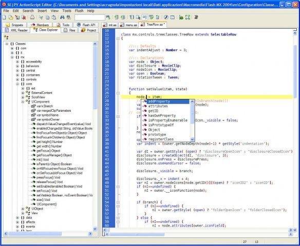 Sepy Actionscript Editor