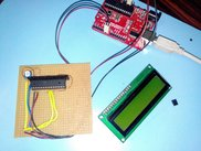Microcontroller under LCD