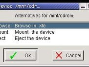 Options for the cdrom drive