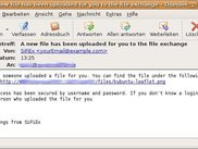 Mail sent by SiFiEx to inform receiving person