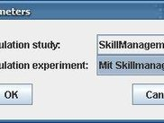 Choose simulation study and experiment from database