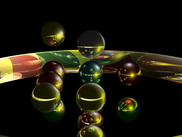 Torus and spheres example, with reflections