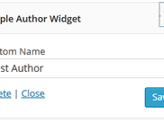 Simple Author Widget Page