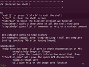 The SimpleCV shell