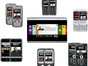 Rock Werchter mobile site on  a myriad of mobiles
