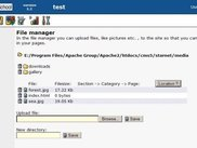 Filemanager screen