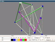 A random graph shown in Java3D. User objects are Point3D's