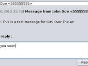 SOTA server received an SMS