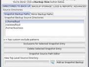 backup directories tab