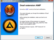 AIMP Snarl extension setup