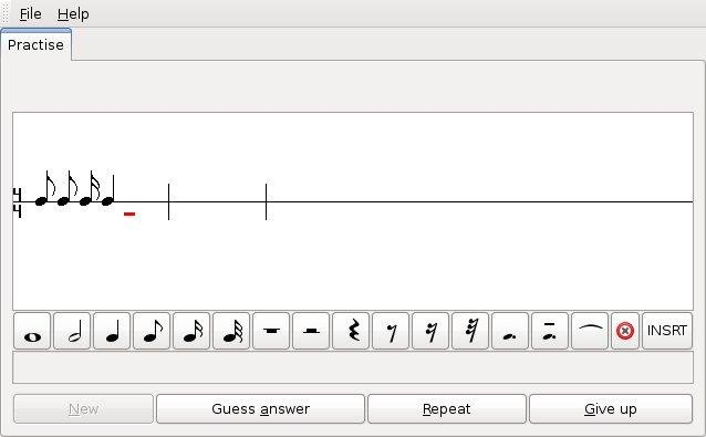 GNU Solfege screenshot