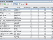 An internal window showing the list editor.