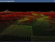 Geo Mip-Mapping algorithm: Wireframe rendering.