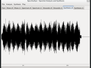 Main window showing synthesized sound waveform