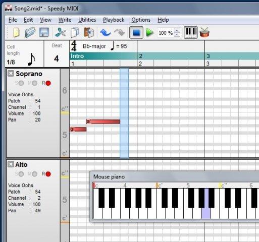 Speedy MIDI screenshot