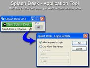 Splash Desk - Application Tool (Run on the Remote Computer)