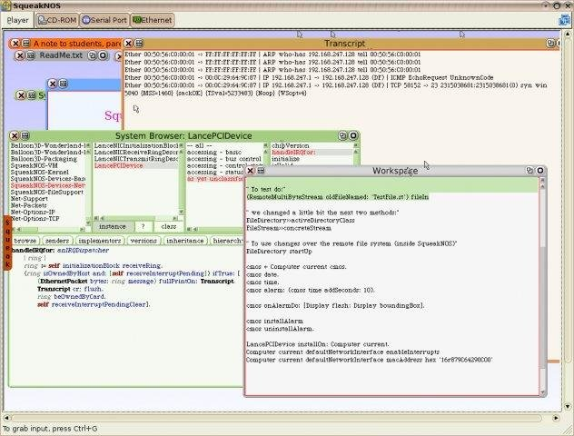 squeak no operating system free system administration