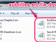 Subtitle file downloaded