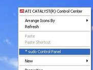 sudo Control Panel with Right Click Context Menu