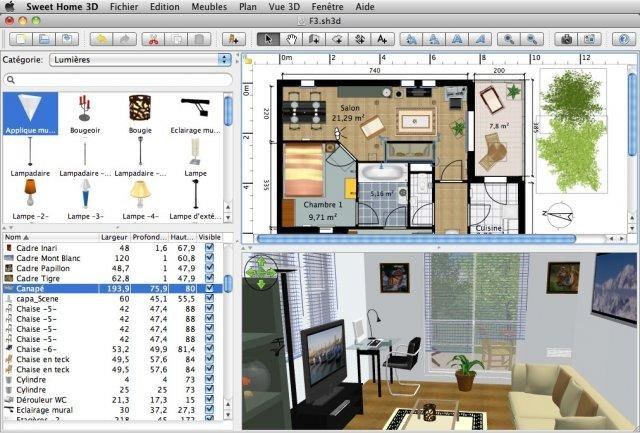 Sweet home 3d download Design a home software