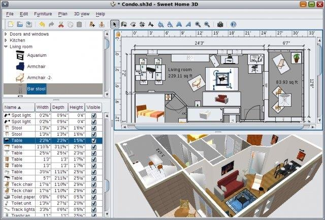 Sweet home 3d download Software to make 3d house plan