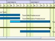 colorful gantt chart
