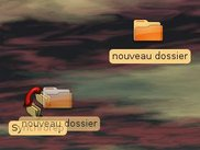 With desktop icon, drag the folder on it
