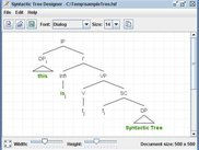 Sample syntactic tree structure