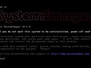 SystemImager boot screen