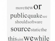 3) Tag cloud result. Created from Quake 3 open source code.