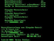 Encryption of file test.txt to D0000001.DAT (german).