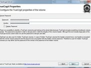 TrueCrypt Properties Configuration Screen