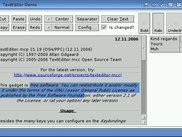 TextEditor-Demo program showing the capabilties of TE.mcc...