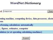 WordNet dictionary / thesaurus