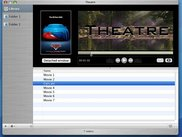 The visualizer window, with all video files you added.