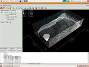 View of toolpath in EMC