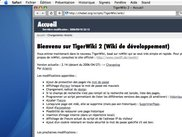 Temp. screenshot of how TigerWiki looks.