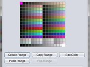 b: Color palette editor window.
