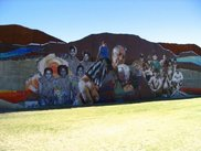 A section of the Barrio Anita tile mural in Tucson.
