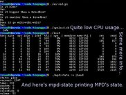 AI (both versions), cpuload.sh, load and mpd-state in action