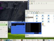 A screenshot showing a few of the programs used in test 5.