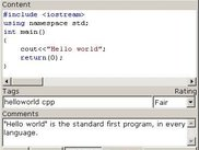 The hello world program