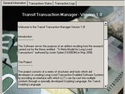 The Transit Model API splash screen