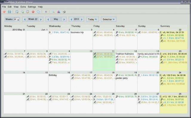 Full Triathlon Training Diary screenshot